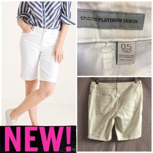 ❣️NEW! CHICO'S PLATINUM DENIM STRETCH SHORTS❣️